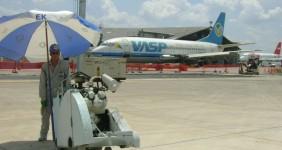 Corte pista – OAS – Aeroporto